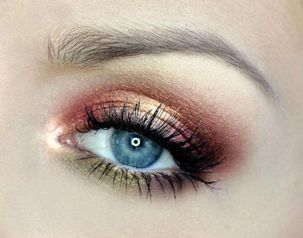 бронзов грим сини очи