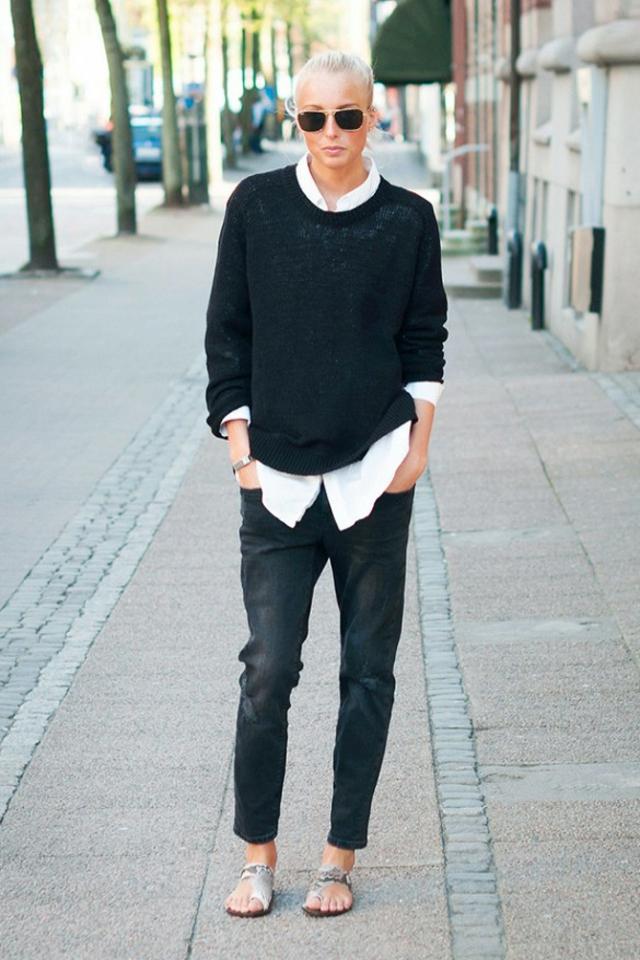 cheren pulover nad bqla riza boyfriend danki