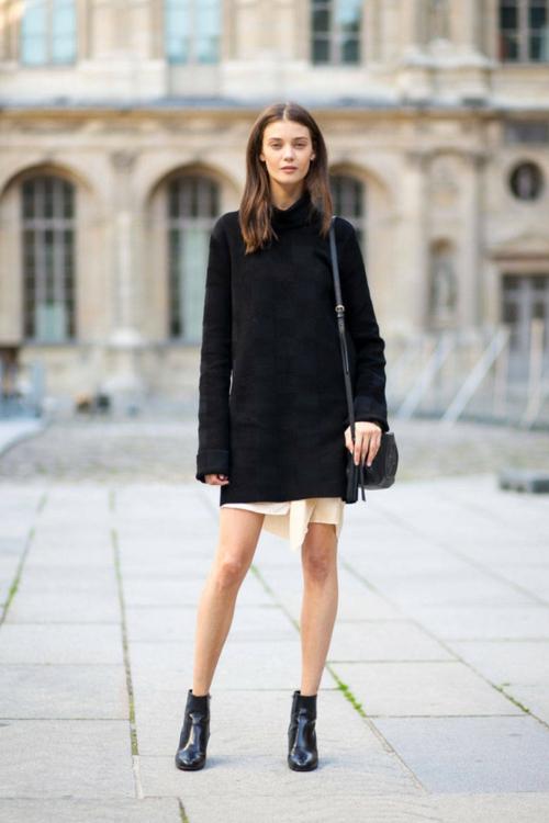стрийт стайл черна рокля