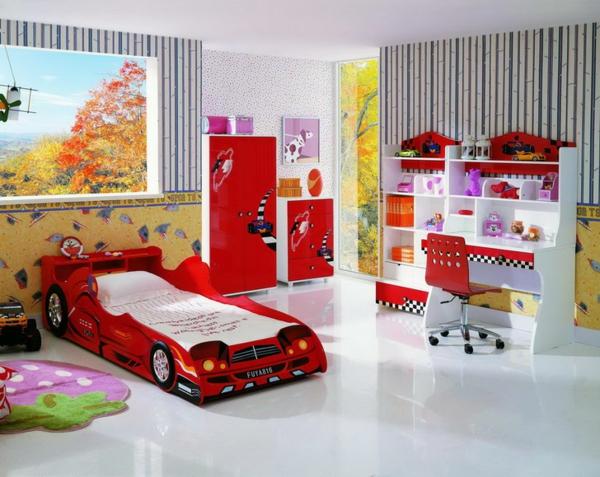 идеи детска стая за момчета с легло кола