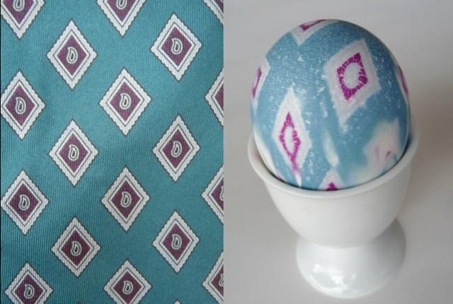 боядисване на яйца с вратовръзки