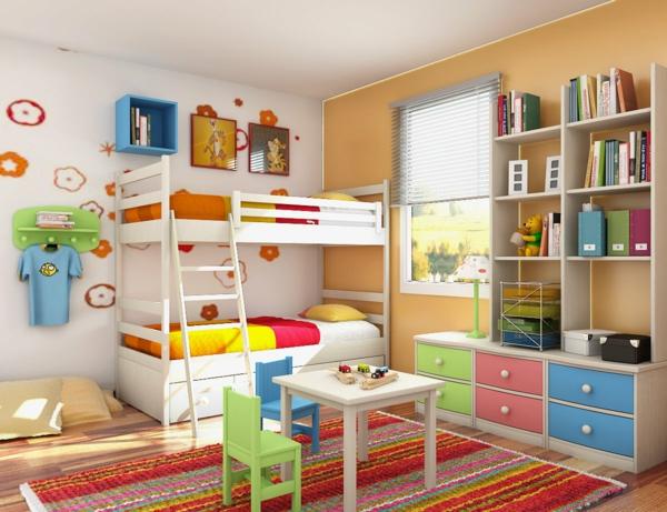 идеи за детска стая за момичета с двуетажно легло