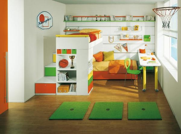 идеи детска стая за момчета с баскетболна тема