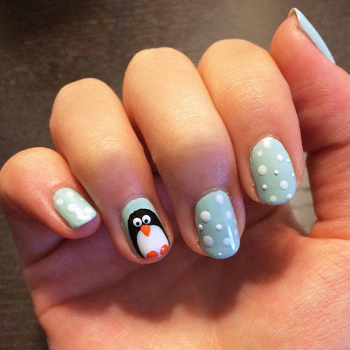 interesni idei manikiur pingvin