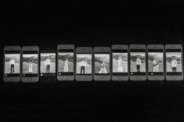 interesni idei svatbeni snimki telefoni
