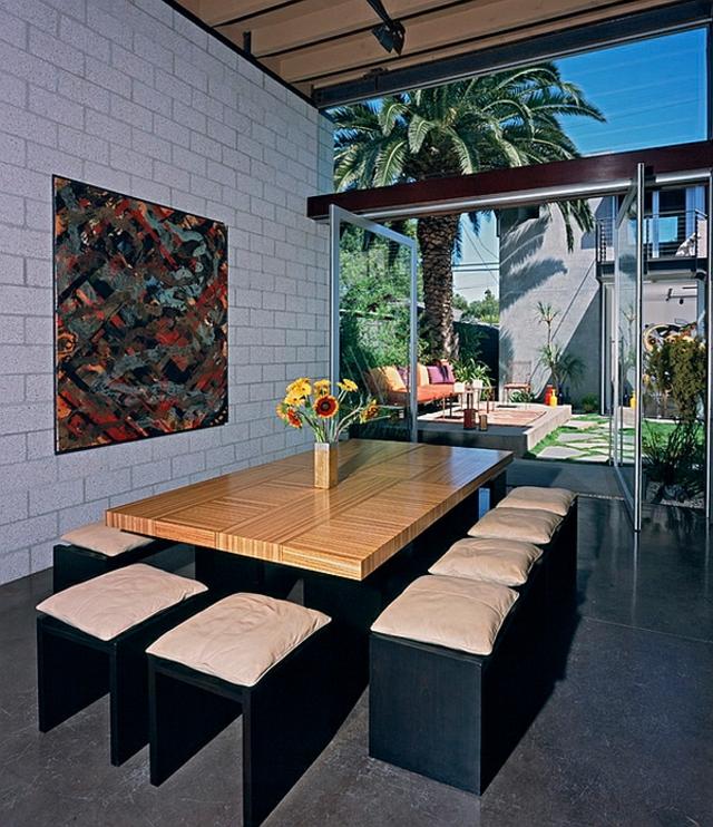 moderna trapezariq darvena masa niski stolove