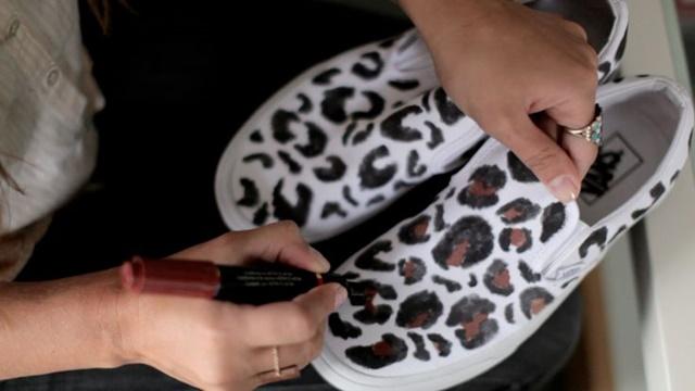 napravi si sam kecove print leopard