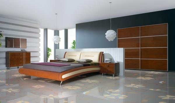 luksozno obzavedena spalnia v malko po moderen stil s leglo ot eko koja