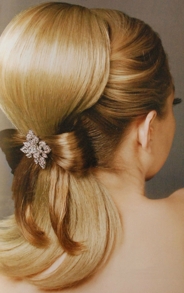 originalna svatbena pricheska s pandelka ot kosa