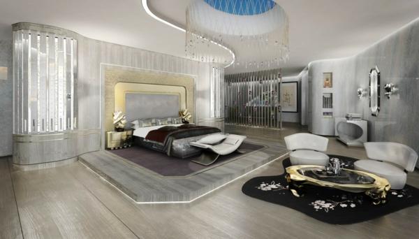 obzavezhdane na spalnia v stilno sivo i luksozno meko bezhovo