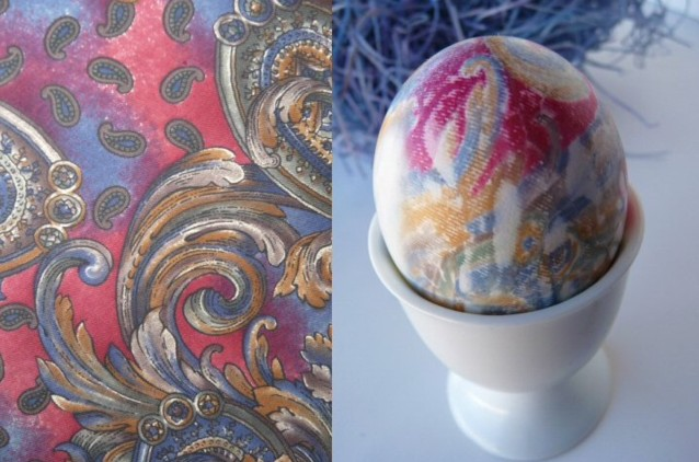 боядисване на яйца с вратовръзка