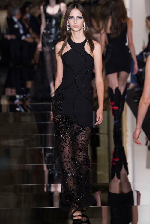 vissha moda Atelier Versace prolet 2015 cherna roklq