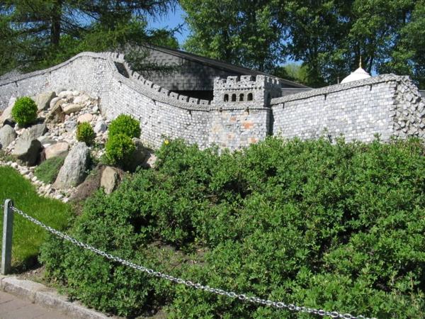 modeli arhitekturni minimundus park velikata kitaiska stena