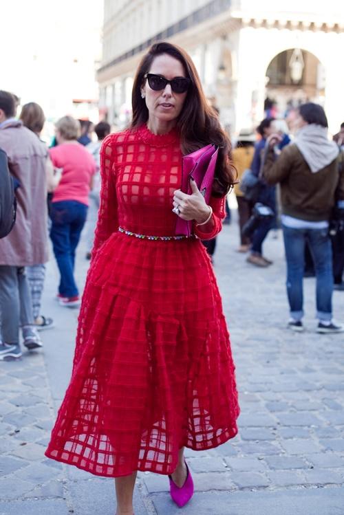 chervena roklq parij prolet 2015 street style