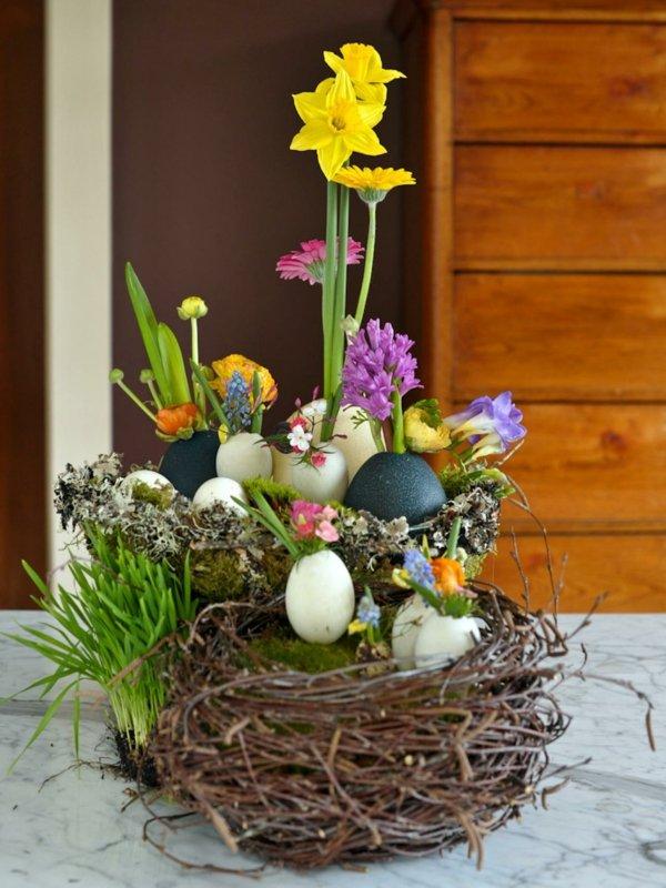 dekoracii za velikden s qica i cvetq
