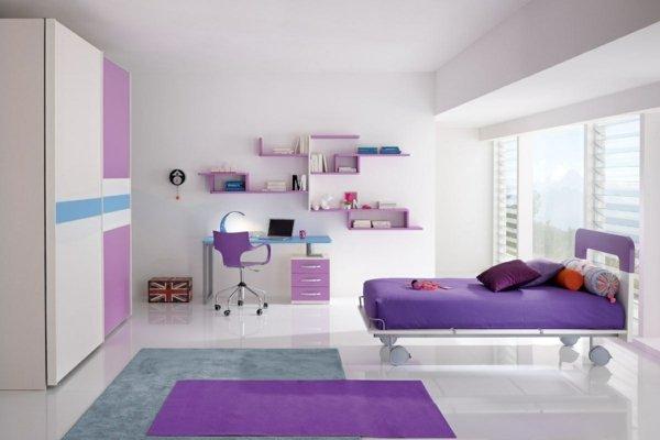 детски стаи в розово и лилаво интериорен дизайн