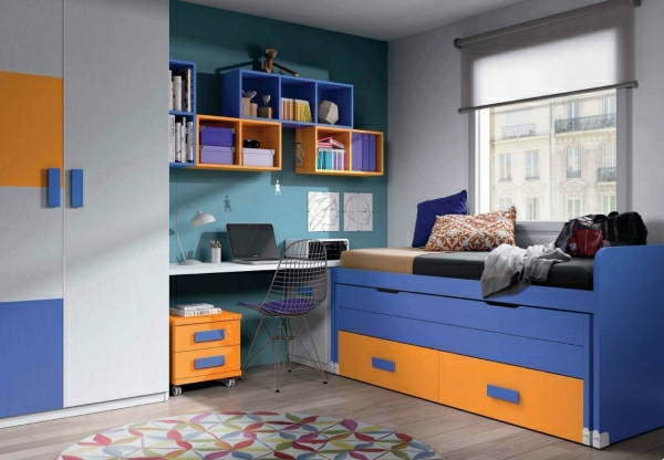 детска стая синьо жълто интериор за момчета идеи