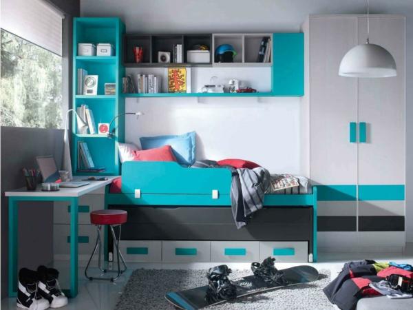 детска стая синьо бяло интериор за момчета