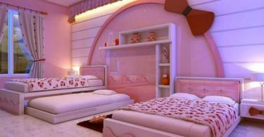 Детска стая в розово и лилаво за момиченца