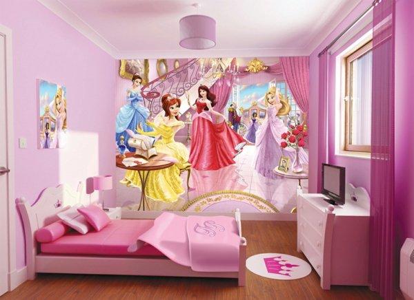 детски стаи в розово лилаво интериорен дизайн  декорация стена