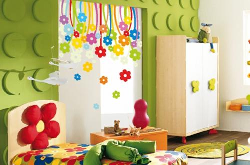 стикери за стена детска стая за момичета цвят