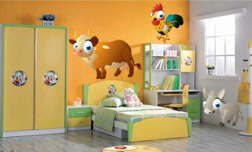 стикери за стена на детска стая животни