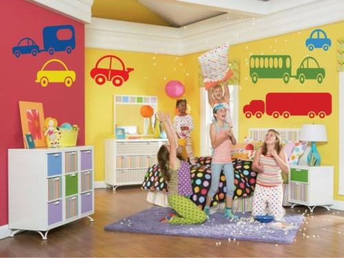 стикери за стена детска стая коли момчета