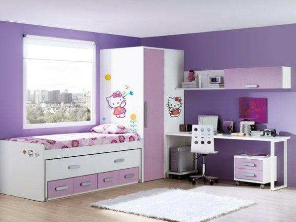 детски стаи в розово лилаво модерен интериорен дизайн