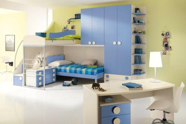 детска стая в синьо за момчета дизайн интериор
