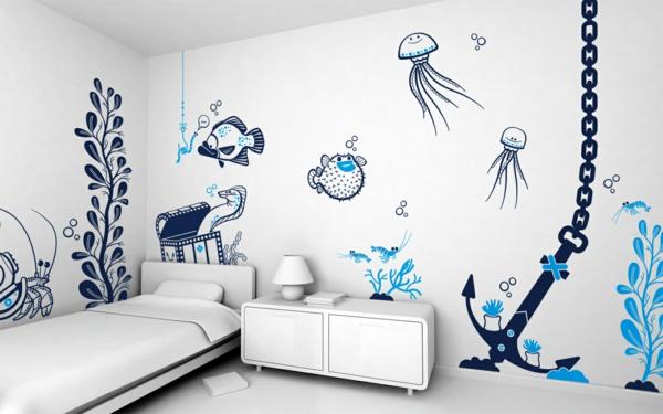 детска стая момчета морски рисунки стена