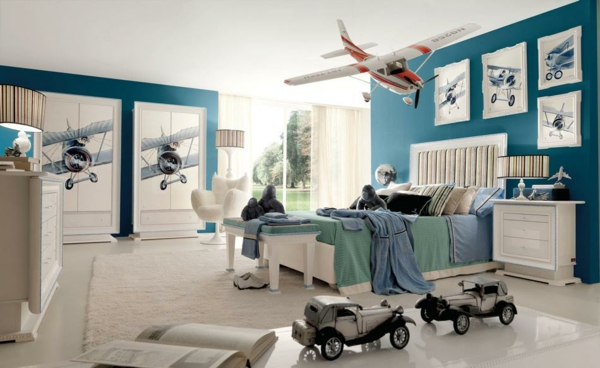 детска стая за момчета самолети интериорен дизайн