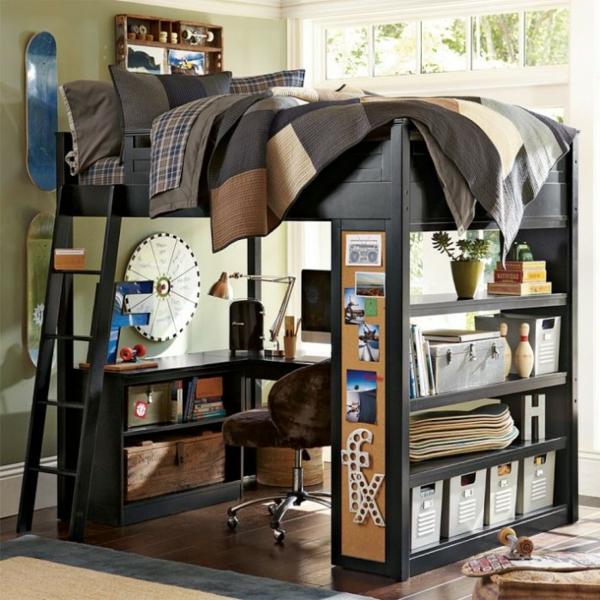 детска стая момчета идея обзавеждане легло стълба