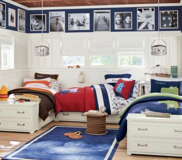 детска стая момчета три легла идеи обзавеждане