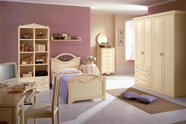 идеи за обзавеждане на детска стая момиче дизайн бели мебели