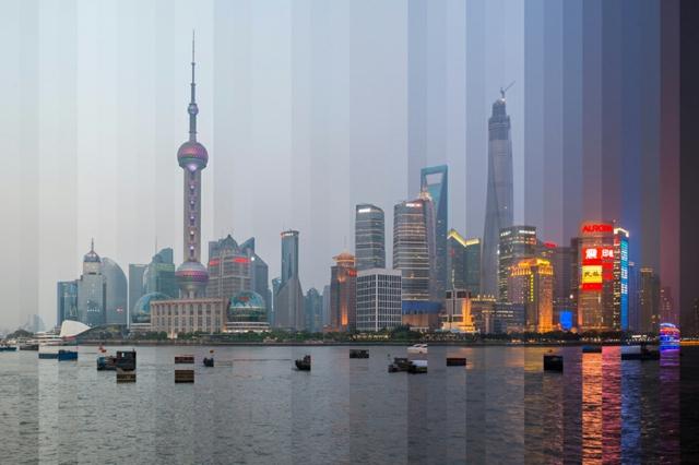 fotografiq izgrev zalez pudong shanghai
