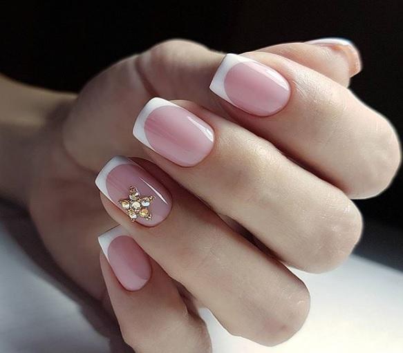 frenski manikur za kusi nokti