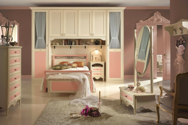 идеи за обзавеждане на детска стая за момиче розово бяло