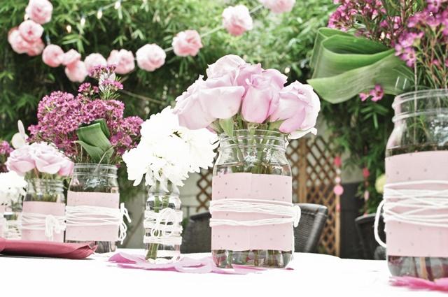 idei za svatbena dekoratsiq burkani rozi
