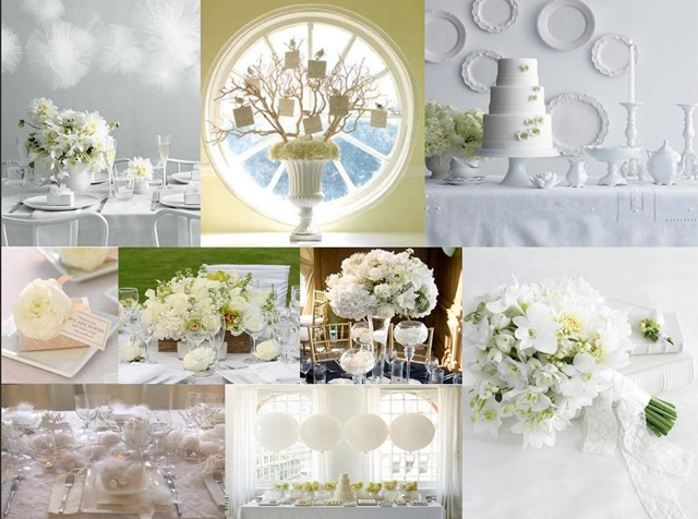 idei za svatbena dekoratsiq cqloto v bqlo