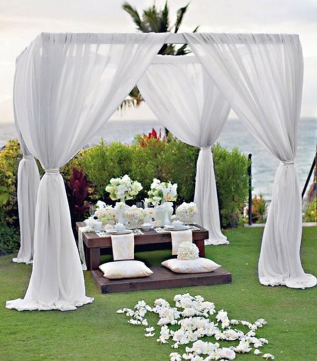 idei za svatbena dekoratsiq gradina