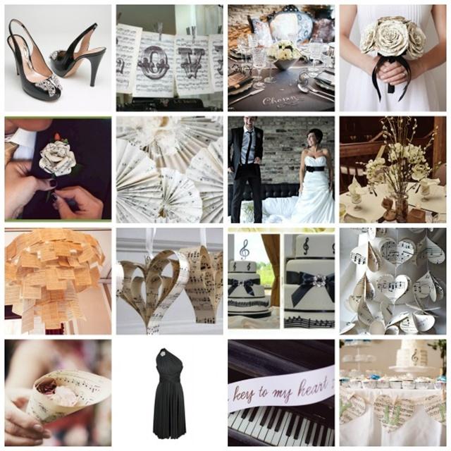 idei za svatbena dekoratsiq muzika noti