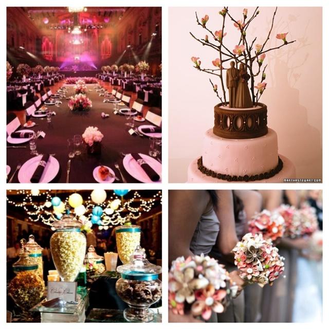 shokoladovo idei za svatbena dekoratsiq