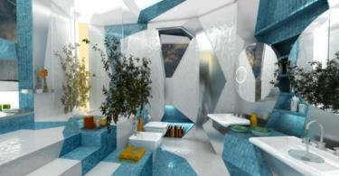 Идеи за бани в синьо в различен стил