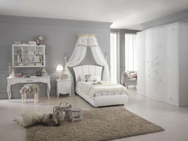 идеи за обзавеждане на детска стая момиче интериор бял цвят