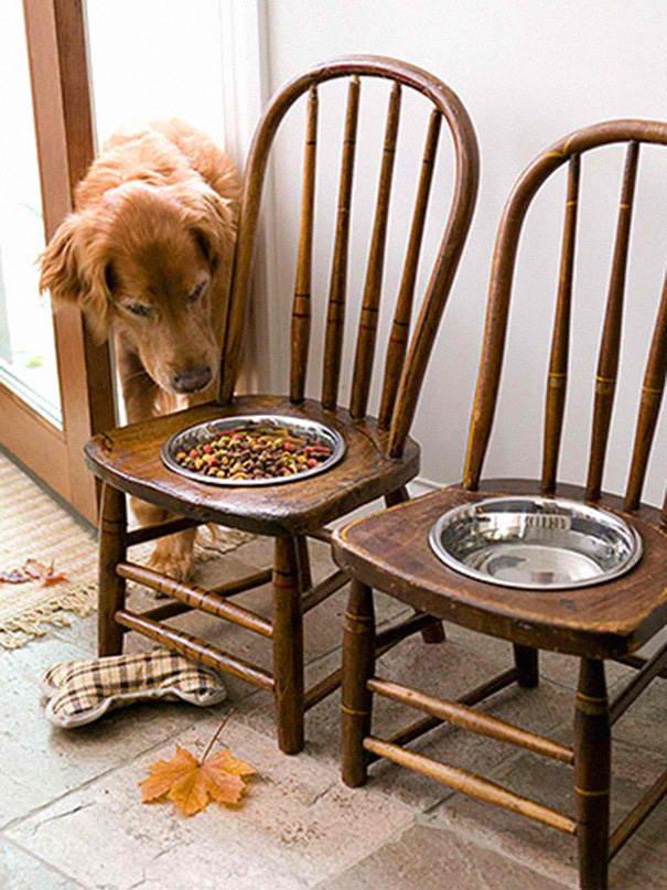 interesni nachini reciklirane stol hranilka