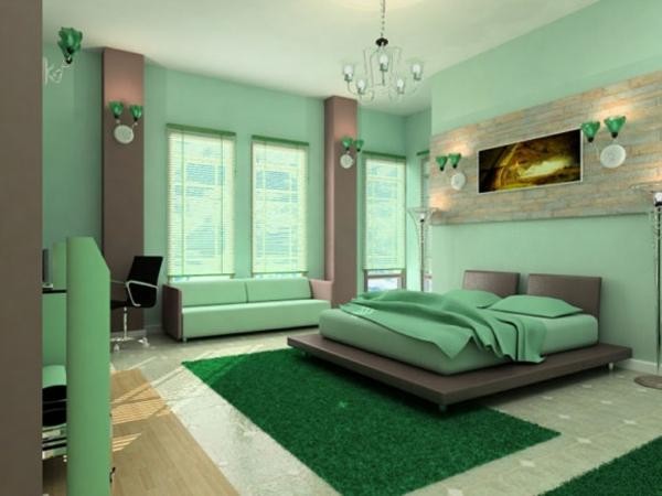izbor cvetpve stena zeleno