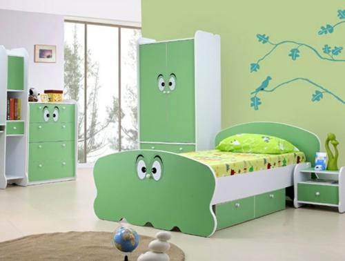 стикери за стена на детска стая за момче зелен интериор