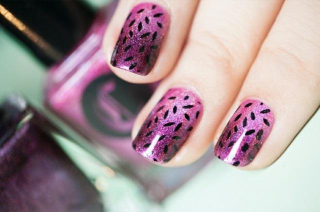 kasi nokti manikiur idei rozov lilav ombre