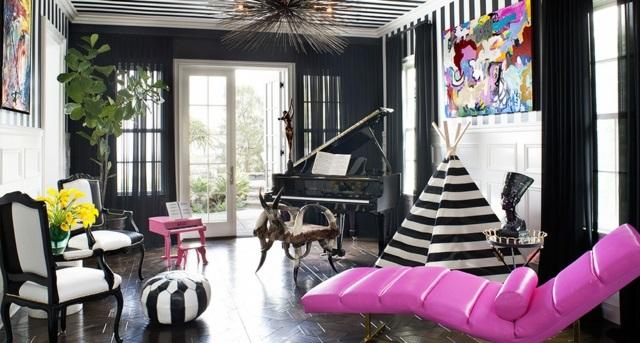 mebeli moderni cherno bqlo dom kortni kardashian piano