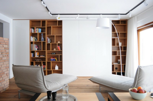 hol minimalistichen biblioteka
